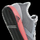 adizero Defiant Bounce Men's Tennis Shoe - Grey/Red