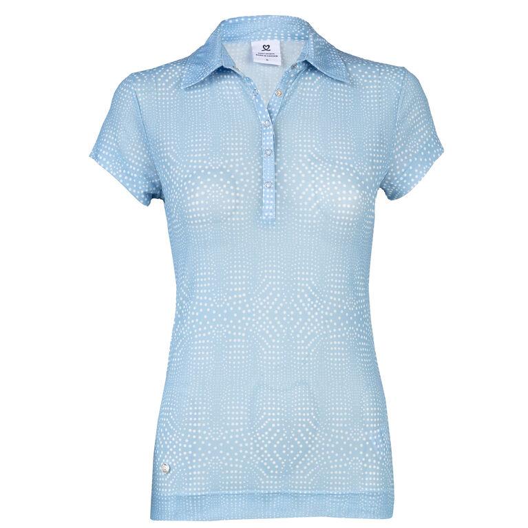 Navy Group: Aggie Mermaid Mesh Polo Shirt