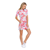 Alternate View 1 of Fun in the Sun Collection: Zaya Painted Petals Elbow Sleeve Dress