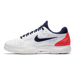 Nike Zoom Cage 3 Men's Tennis Shoe - White/Navy/Orange