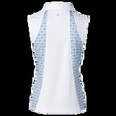 Alternate View 1 of Sue Sleeveless Inset Print Polo Shirt