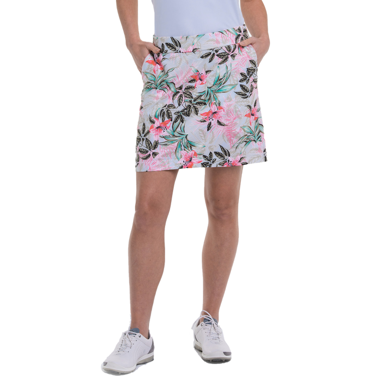 """Cargo Chic Collection: Tropical Print 19"""" Skort"""