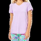 Renay Purple Iris Performance Tee Shirt