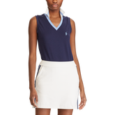 Tailored Fit Sleeveless Golf Polo Shirt
