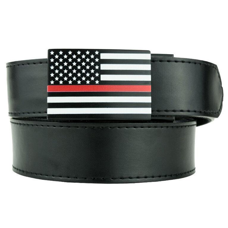 Nexbelt Thin Red Line Series Classic Belt - Black