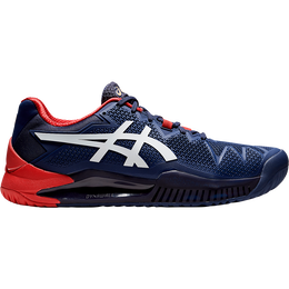 GEL RESOLUTION 8 Men's Tennis Shoes - Navy/Red