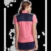 Alternate View 3 of Short Sleeve Mesh Mix Quarter Zip Polo Shirt