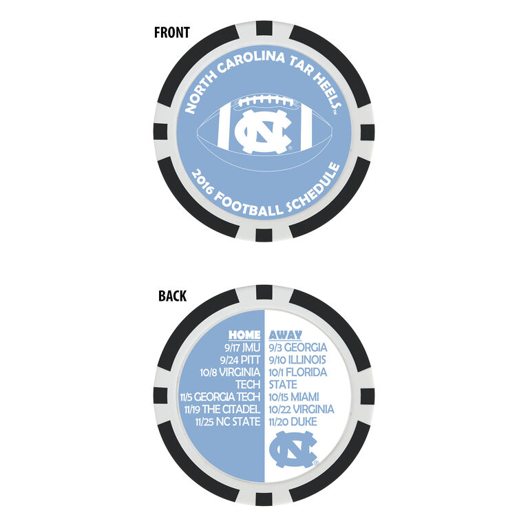Team Effort UNC Football Schedule Ball Marker