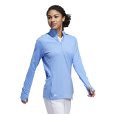 Alternate View 1 of Minted Blues Collection: Half-Zip Solid Pull Over Jacket