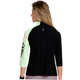 Alternate View 1 of Super Nova Collection: 3/4 Sleeve Colorblock Top