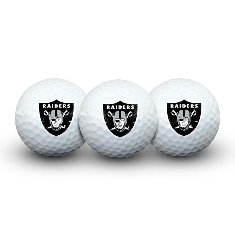 Team Effort Oakland Raiders Golf Ball 3 Pack