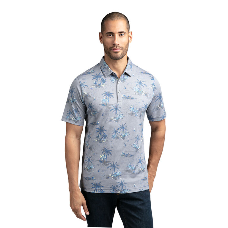 WhatItIsLiz Palm Tree Polo Shirt