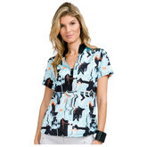 Pacifica Group: Short Sleeve Liquid Plaid Polo
