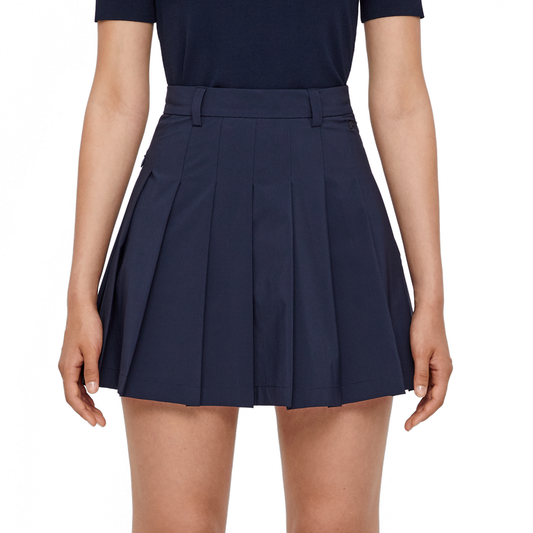 J.Lindeberg Adina Pleated Micro Stretch Skort | PGA TOUR Superstore Front Cut Close
