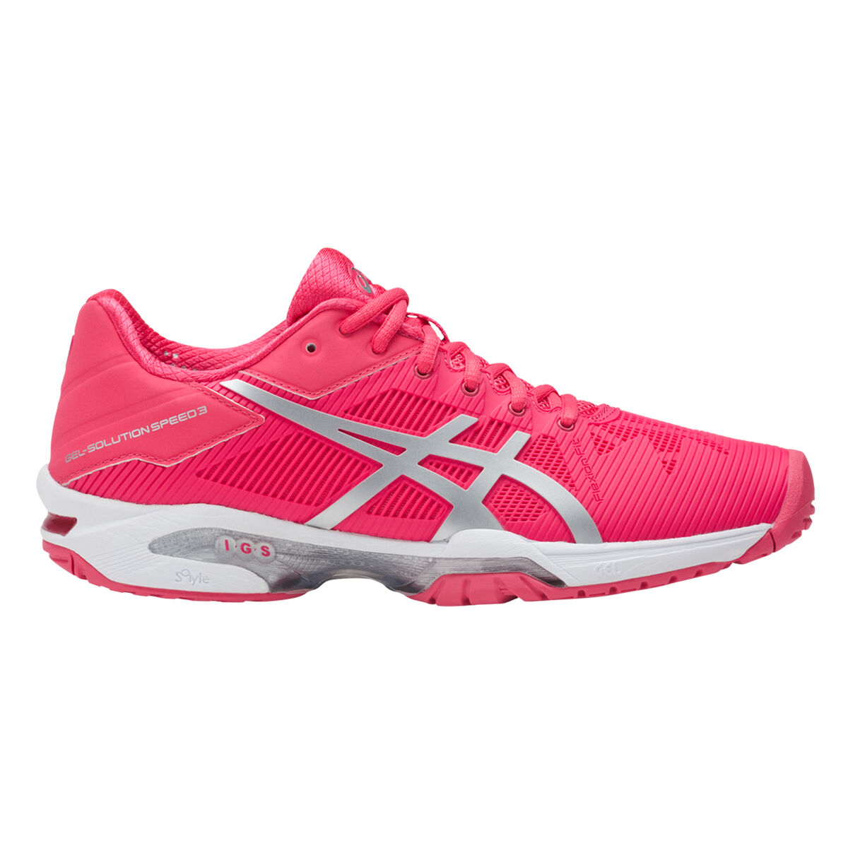e99c0414 Asics GEL-Solution Speed 3 Women's Tennis Shoe - Pink/White