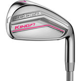 Cobra Women's King F7 Cmb 5-6h,7-PW,SW w/Graphite Shafts