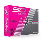 Fifty Elite Pink Golf Balls