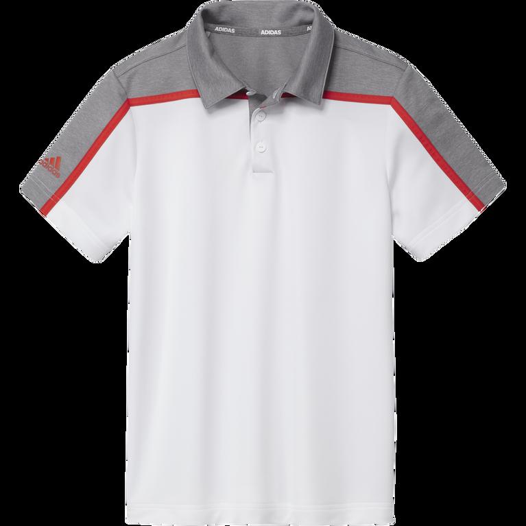Boys Heathered Colorblock Polo Shirt