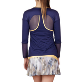 Alternate View 1 of Allure Collection:  Long Sleeve Mesh Accents Top
