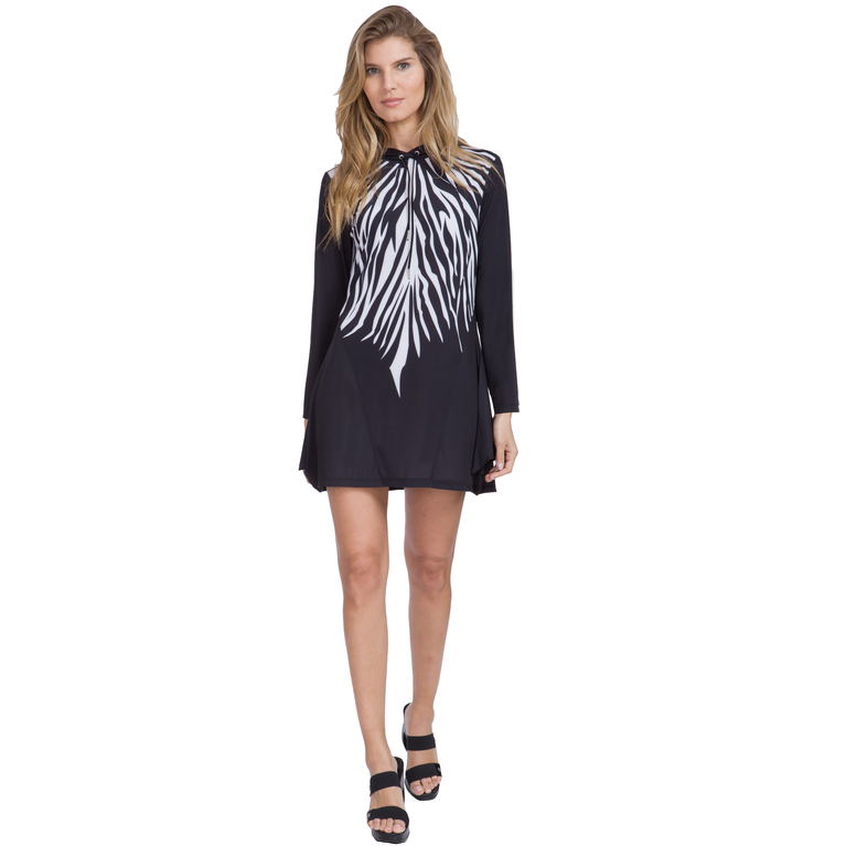 Sunsense: Zebra Print Hooded Dress
