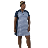 Alternate View 1 of NashVegas Collection: Short Sleeve Ikat Print Dress