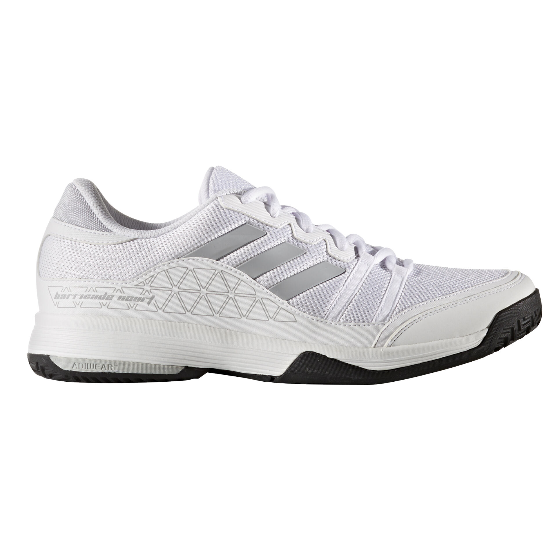 adidas Barricade Court Men's Tennis Shoe WhiteSilver