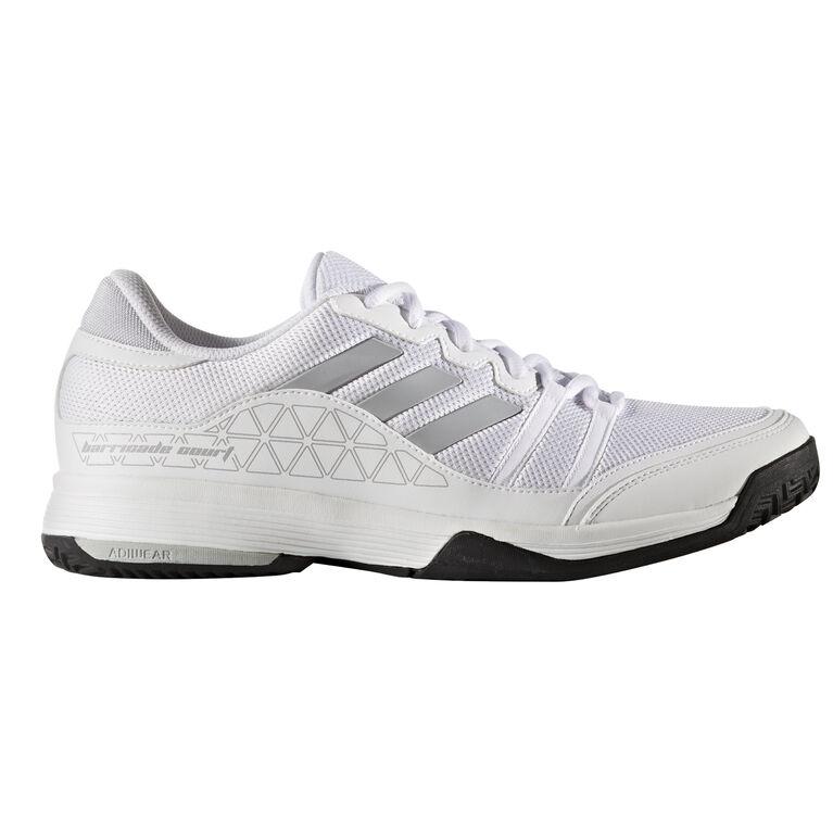 31a2cc19c0d750 adidas Barricade Court Men s Tennis Shoe - White Silver