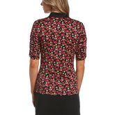 Alternate View 1 of Ditsy Floral Collection: Funfetti Floral Print Short Sleeve Golf Polo