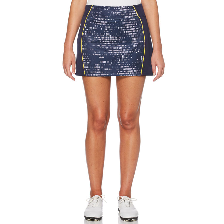 Lilac and Navy Group: Mini Brush Stroke Print Skort
