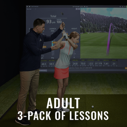 Adult Golf Lesson 3-Pack Gift Certificate