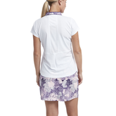 Alternate View 2 of Impatiens Collection: Floral Print Collar Short Sleeve Shirt