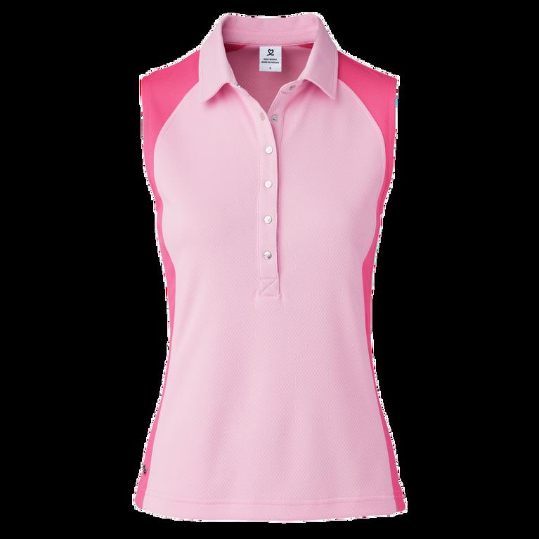 Zenia  Sleeveless Colorblock Polo Shirt