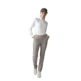 Alternate View 1 of Monochrome Check Collection: Linnea Long Sleeve Polo Shirt
