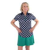 Alternate View 1 of Appletini Collection: Short Sleeve Polka Dot Polo