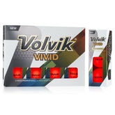 Volvik VIVID Golf Balls - Red