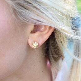 Gold Golf Ball Earrings