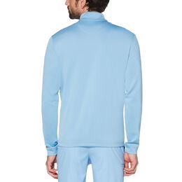 Long Sleeve Earl Mock Quarter Zip Blue Back
