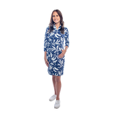 Alternate View 1 of Doral 3/4 Sleeve Leaf Print Dress