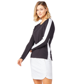 Alternate View 1 of Biltmore Collection: Track Stripe Long Sleeve Top