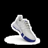 Alternate View 6 of ADIWEAR™ 6 CourtJam XJ Junior's Tennis Shoe - Off White/Royal Blue