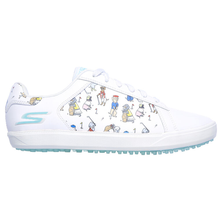 GO GOLF Drive 4 Dogs at Play Women's Golf Shoe - White/Blue