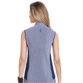 Alternate View 1 of Butter Collection: Striped Crunch Sleeveless Golf Top