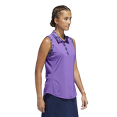 Alternate View 2 of Ultimate365 Printed Sleeveless Polo Shirt