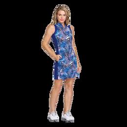 Greek Isles Collection: Aniyah Sleeveless Palm Isle Print Dress