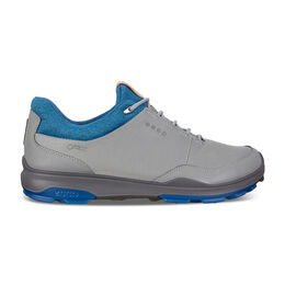 ECCO BIOM Hybrid 3 GTX Men's Golf Shoe - Grey/Blue