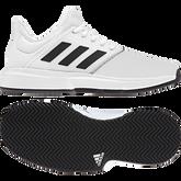 Alternate View 9 of adidas GameCourt WIDE Men's Tennis Shoe - White/Black