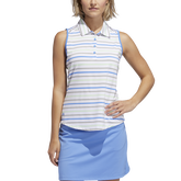Alternate View 3 of Minted Blues Collection: Ultimate Stripe Sleeveless Polo Shirt