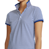 Alternate View 3 of Short Sleeve Striped Piqué Polo Shirt