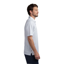 Right Now Right Now Short Sleeve Chalk Stripe Polo