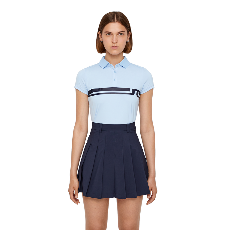 Short Sleeve Orla Chest Stripe Jersey Polo